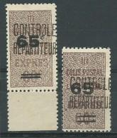 ALGERIE: **, CP N°15 + 15a, TB - Algeria (1924-1962)