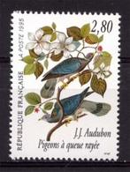 FRANCE Pigeon à Queue Rayée. Dessin De J.J. Audubon Illustre Peintre Ornithologue. Neuf**. - Pigeons & Columbiformes
