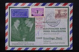 ALLEMAGNE - Enveloppe Transportée Par Roquette En 1963 ( Avec Signature) , Affranchissement Plaisant, Vignette - L 27974 - [7] République Fédérale