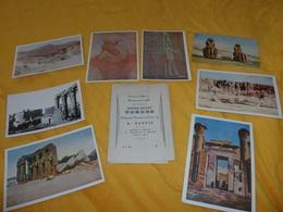 POCHETTE INCOMPLETE DE 8 CARTES POSTALES UPPER EGYPT THEBES A.GADDIS.. - Egypte