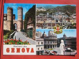 """Genova - Mehrbildkarte """"Saluti Da Genova"""" / Viadotto Sul Polcevera - Genova (Genoa)"""
