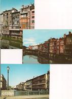 Castres:trois Cartes : L'Agout Venise Castraise Et Ses Vieilles Maisons - Cartes Neuves - - Castres