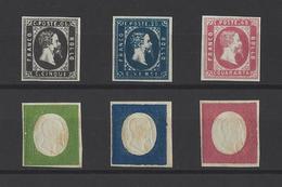 SARDAIGNE. YT   N° 1/3 - 7/9  ( FAUX ) 1851-54 - Sardaigne