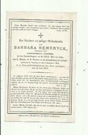 Torhout - Barbara Hemeryck Geb,1800 En Gest, 1870 - Images Religieuses