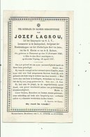 Torhout - Jozef Lagrou -  Geb,1840 En Gest, 1867 - Devotieprenten