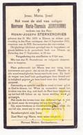 DP Maria Th. Jeunehomme ° Eliksem Landen 1853 † 1932 X Henri J. Sterkendries Sterckendries - Images Religieuses