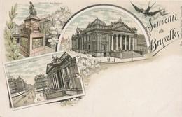 CPA - Belgique - Brussels - Bruxelles - Souvenir De Bruxelles - Panoramische Zichten, Meerdere Zichten