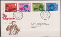 Grossbritannien 1976 MiNr.702 - 705 FDC 100 Jahre Telephon ( D 3343 )günstige Versandkosten - FDC