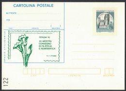AN101  Italia,Italy 1982 Cartolina Postale Perugia XII Mostra Convegno Di Filatelia E Numismatica - Philatelic Exhibitions