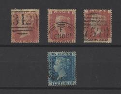 GRANDE-BRETAGNE. YT   N° 26/27  Obl  1858 - 1840-1901 (Victoria)