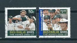 2007 Australia Complete Set Cricket Used/gebruikt/oblitere - 2000-09 Elizabeth II