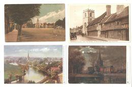 FOUR STRATFORD UPON AVON POSTCARDS - Stratford Upon Avon