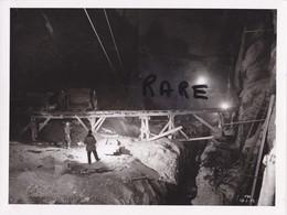 PHOTO ANCIENNE,MINE,MINEUR,OUVRIER,73,74,SAVOIE,1952,CONSTRUCTION CENTRALE ELECTRIQUE SOUTERRAINE,RANDANS,ISERE,ARC, - Places