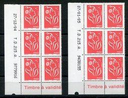 RC 12546 FRANCE MARIANNE DE LAMOUCHE COINS DATÉS - DATES DIFFERENTES NEUF ** TB - France