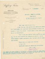 FA 1153 / FACTURE  GRAINS  POMMES A CIDRE  SAFFREY FRERES  LISIEUX     (14)   1912 - Agriculture