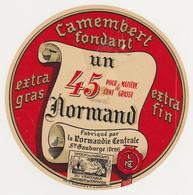 ETIQUETTE DE CAMEMBERT NORMANDIE CENTRALE STE GAUBERGE ORNE - Cheese