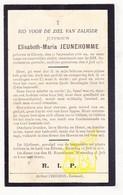 DP Elisabeth M. Jeunehomme ° Eliksem Landen 1858 † 1931 - Images Religieuses