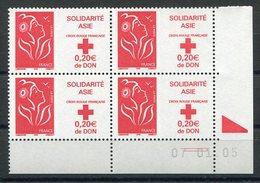 RC 12549 FRANCE MARIANNE DE LAMOUCHE COIN DATÉ NEUF ** TB - Francia