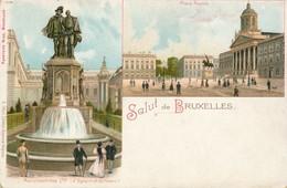 CPA - Belgique - Brussels - Bruxelles - Salut De Bruxelles - Multi-vues, Vues Panoramiques