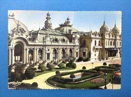 Cartolina Formato Grande Viaggiata Monaco La Cote D'azur Montecarlo Le Casino Con Annullo Targhetta - Monte-Carlo