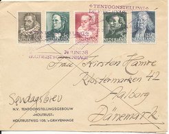 Netherlands Cover 24-6-1938 Complete Set Sent To Denmark And Delivered As Sundayletter - Covers & Documents