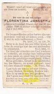 DP Florentina Janssens ° Gooreind Wuustwezel 1886 † 1915 - Images Religieuses