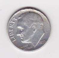 United States, 10c Roosevelt Dime, 1955-D, Denver - Émissions Fédérales