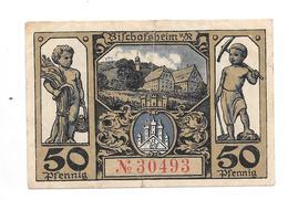 **notgeld Bischofsheim 50 Pfennig 107.3 - [11] Emissions Locales