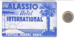 ETIQUETA DE HOTEL  - HOTEL INTERNACIONAL  -ALASSIO  -ITALIA - Hotel Labels