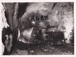 PHOTO ANCIENNE,MINE,MINEUR,OUVRIER,73,74,SAVOIE,1949,CONSTRUCTION CENTRALE ELECTRIQUE SOUTERRAINE,RANDANS,ISERE,ARC, - Places