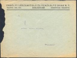 7255FM- CLUJ NAPOCA TRANSYLVANIA BANK HEADER COVER, ABOUT 1939, ROMANIA - Otros