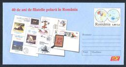 7266FM- PHILATELIC EXHIBITION, POLAR PHILATELY IN ROMANIA, COVER STATIONERY, 2008, ROMANIA - Events & Commemorations
