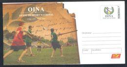 7274FM- OINA, ROMANIAN NATIONAL SPORTS, COVER STATIONERY, 2009, ROMANIA - Sonstige