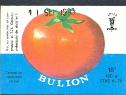 78495- TOMATO SAUCE, LABELS, 1995, ROMANIA - Fruit En Groenten