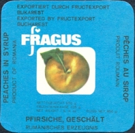 78498- PEACHES IN SYRUP, LABELS,  ROMANIA - Obst Und Gemüse