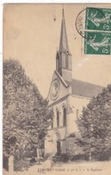 37  RIGNY USSE. CPA.  L'EGLISE. ANNEE 1908 + TEXTE - France