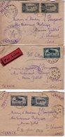 Lot De 3 Enveloppes Par Avion. 1924 - Briefe U. Dokumente