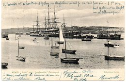 """- DEVONPORT. - """"Lion"""" And """"Implacable"""" - Scan Verso - - Segelboote"""