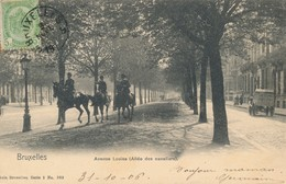 CPA - Belgique - Brussels - Bruxelles - Avenue Louise (Allée Des Cavaliers) - Avenues, Boulevards