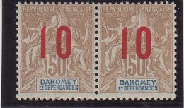 DAHOMEY : N° 40 A * . 1912 . CHIFFRES ESPACES . TB . - Dahomey (1899-1944)