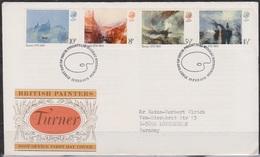 Grossbritannien 1975 MiNr.669 - 672 FDC 250.Geb. William Turner ( D 3592 )günstige Versandkosten - FDC