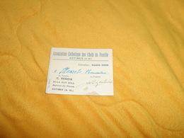 COUPON OU CARTE ANCIENNE DE 1939.../ ASSOCIATION CATHOLIQUE DES CHEFS DE FAMILLE ANTIBES... - Unclassified