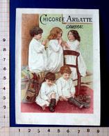 CHROMO ..12 / 8 .5 Cm...CHICORÉE ARLATTE...LITHO VERGER......ENFANTS QUI FONT LA PRIÈRE DU SOIR - Thé & Café