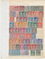 T.BON LOT DE 420 TIMBRES FRANCE.NEUFS ET OBLITERES.TYPES DIVERS.B.ETAT DES TIMBRES.T.PETIT PRIX.A SAISIR - Collections (sans Albums)