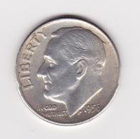 United States, 10c Roosevelt Dime, 1956-D, Denver - 1946-...: Roosevelt