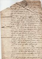 Manuscrit Partie D'Acte Notarié Notaire 1765 Cachet Généralité D'Orléans Trois Sols Veillard Bruzeau Guigneux 4 Pages - Seals Of Generality