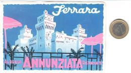 ETIQUETA DE HOTEL  - ALBERGO ANNUNZIATA RISTORANTE  -FERRARA  -ITALIA - Hotel Labels