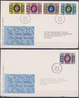 Grossbritannien 1977 MiNr.739 - 743 FDC 25 Jahre Regentschaft Königin Elizabeth II. ( D 3568 )günstige Versandkosten - FDC