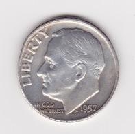 United States, 10c Roosevelt Dime, 1957-D, Denver - 1946-...: Roosevelt