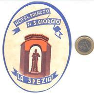 ETIQUETA DE HOTEL  -HOTEL PALAZZO DI S. GIORGIO  -LA SPEZIA  -ITALIA - Hotel Labels